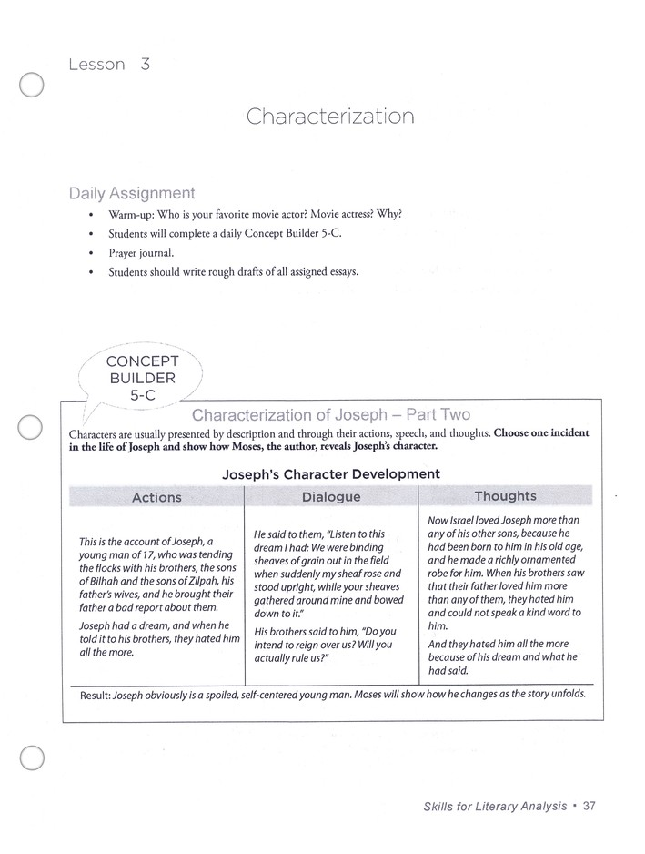 Skills For Literary Analysis: Lessons in Assessing Writing Structures, Teacher