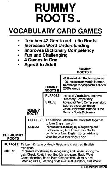 Rummy Roots: English Vocabulary Building Game Ages 8 to Adult