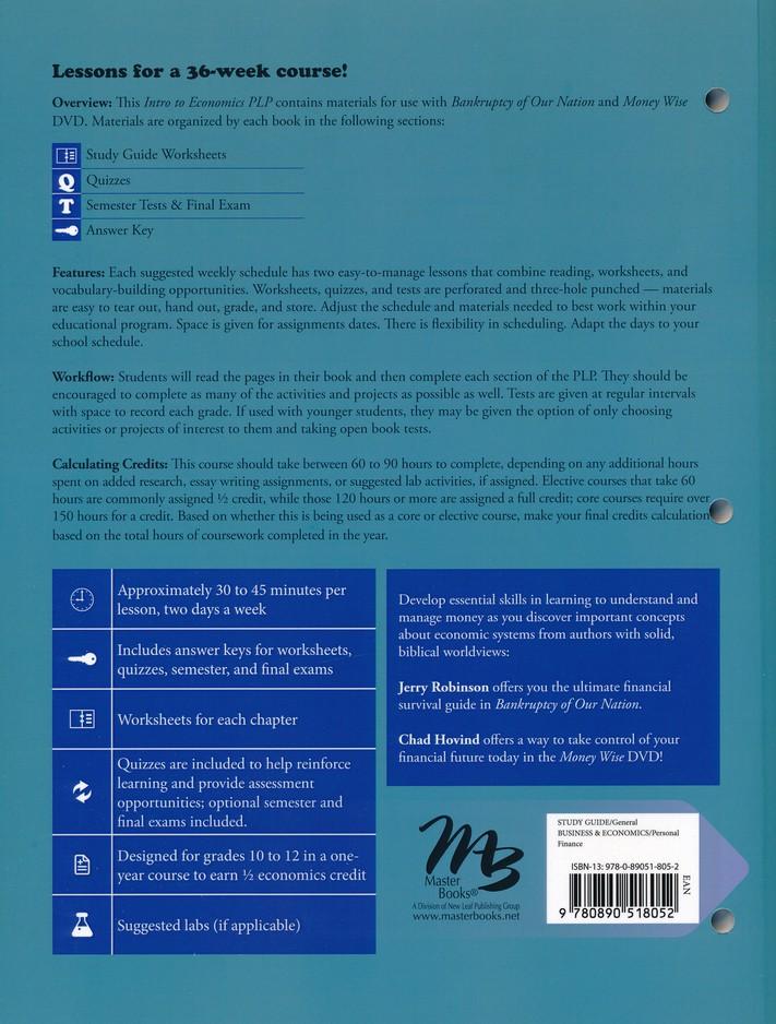 Intro to Economics: Money, History, & Fiscal Faith Pack, 3 Volumes
