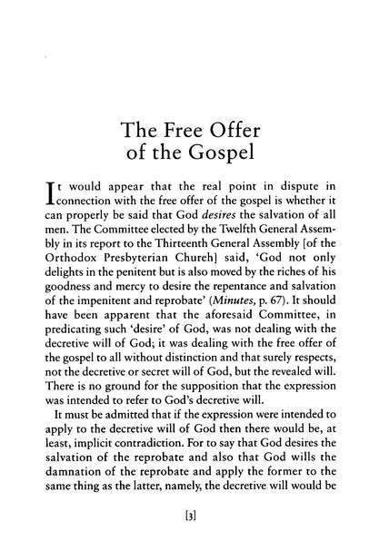 The Free Offer of the Gospel