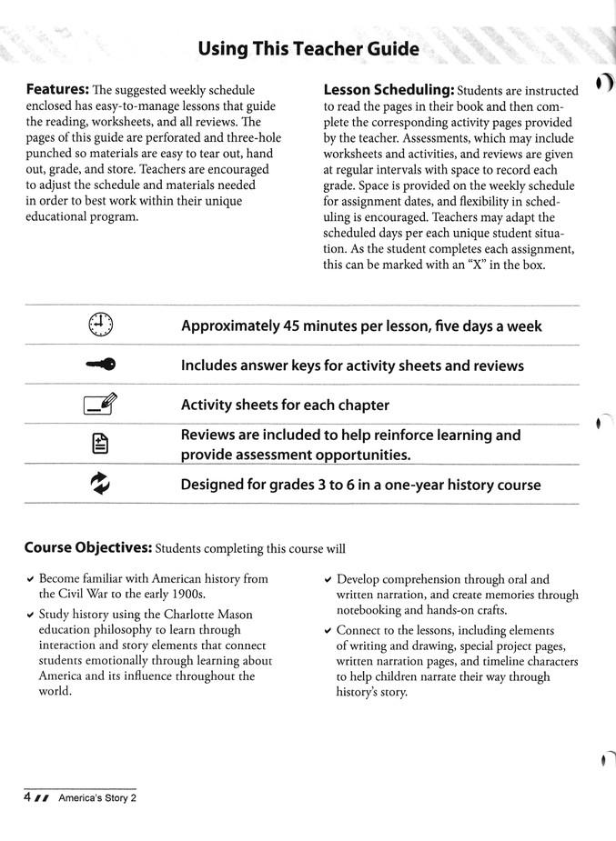 America S Story Volume 2 Teacher Guide