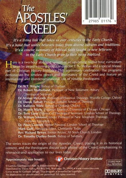 The Apostles' Creed, DVD