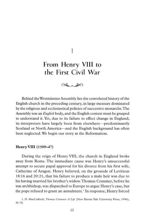The Westminster Assembly: Reading Its Theology in Historical Context