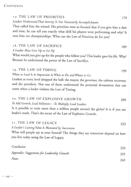 The 21 Irrefutable Laws Of Leadership Workbook Revised Updated