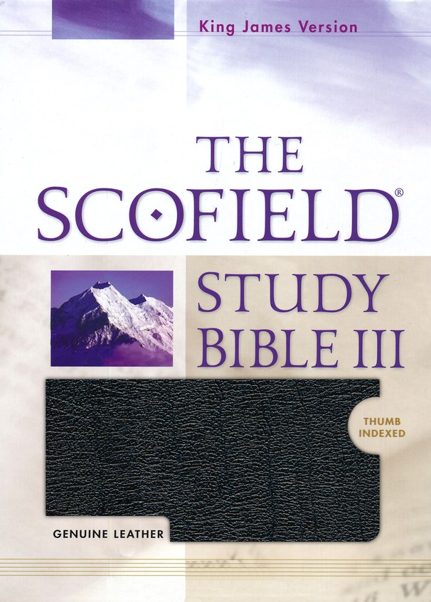 KJV Scofield Study Bible Genuine Leather, Black Thumb-Indexed