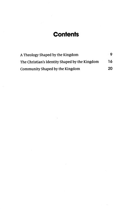 The Kingdom of God: The Kingdom of God