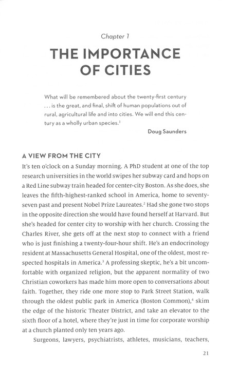 Why Cities Matter: To God, the Culture, and the Church