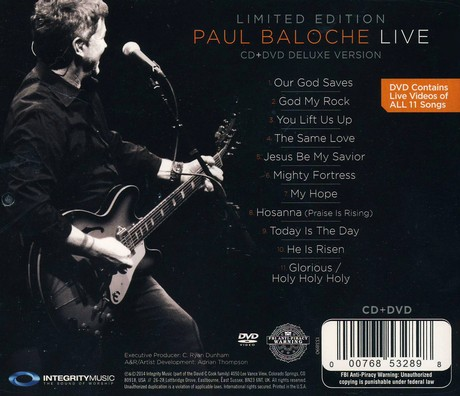 Paul Baloche Live CD/DVD Combo