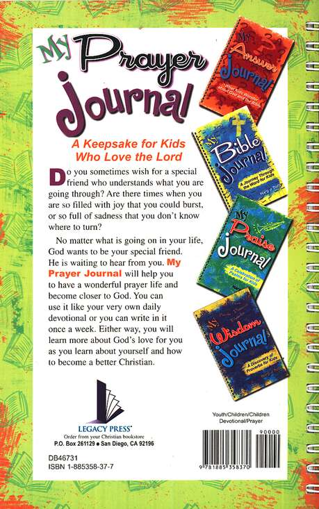 My Prayer Journal: A Keepsake for Kids Who Love the Lord
