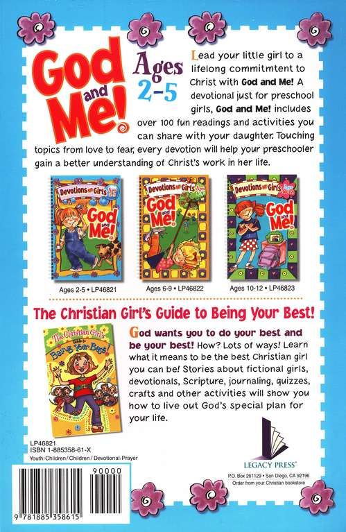 God and Me! Devotions for Girls, Ages 2-5