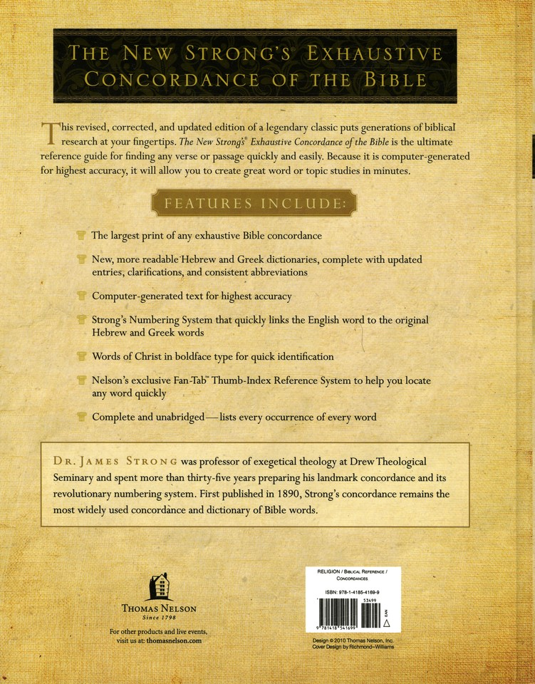 The New Strong S Exhaustive Concordance Of The Bible Large Print Edition