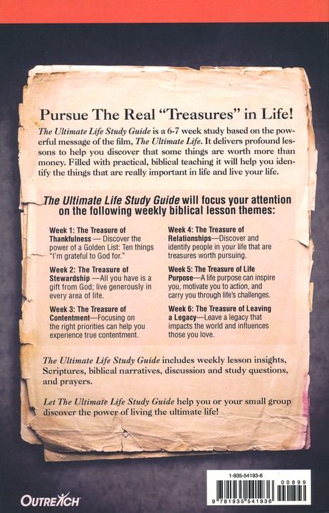 the ultimate life study guide jim stovall 9781935541936 rh christianbook com Reading Group Discussion Questions The Book Thief Discussion Guide