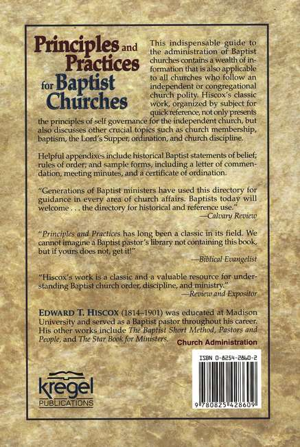 Principles & Practices for Baptist Churches