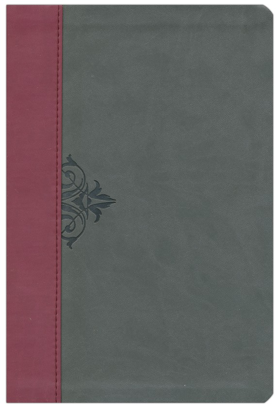 The NKJV Life Lessons Study Bible, Imit. Leather  Burgundy/Stormcloud gray