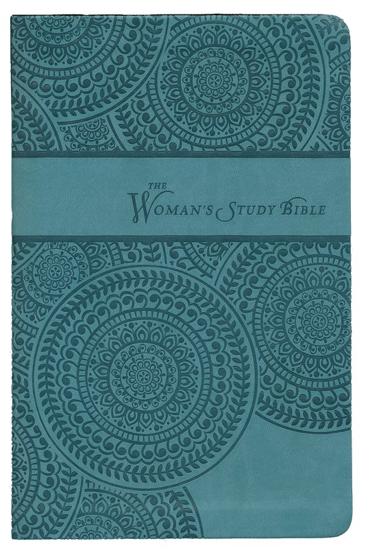 NKJV Woman's Study Bible, Personal Size: Leathersoft Peacock Blue