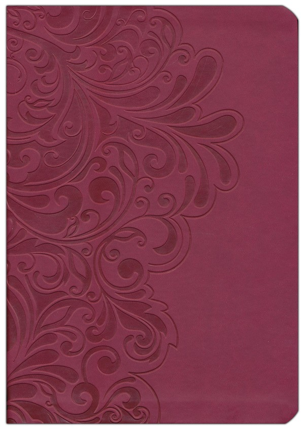NKJV Study Bible, Second Edition, Leathersoft, cranberry indexed