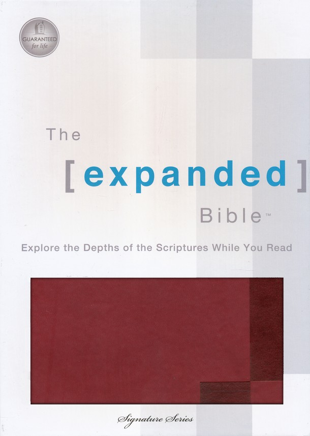 The Expanded Bible, Leathersoft Chestnut