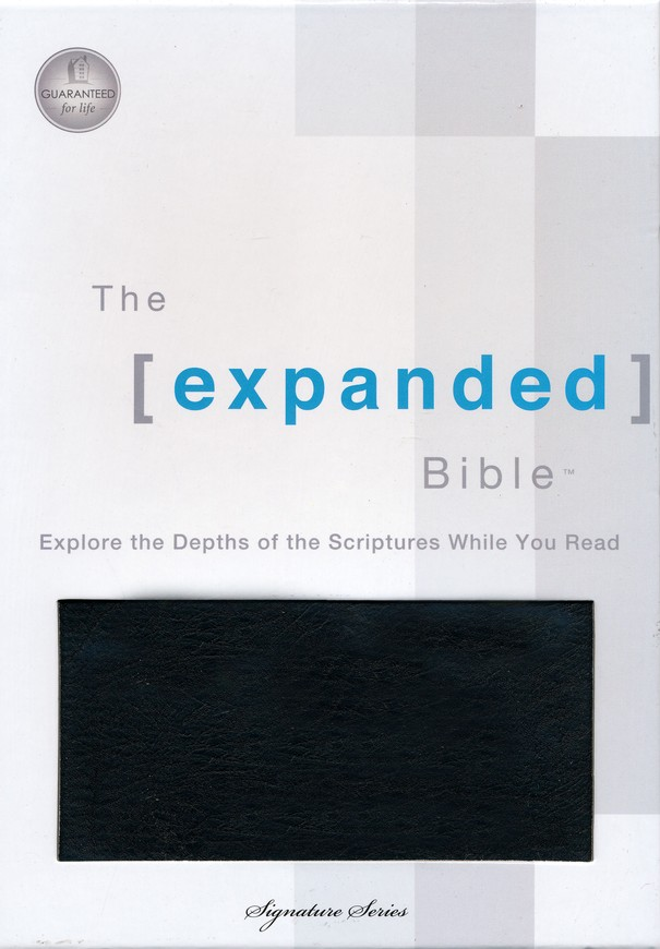 The Expanded Bible, Bonded Leather Black