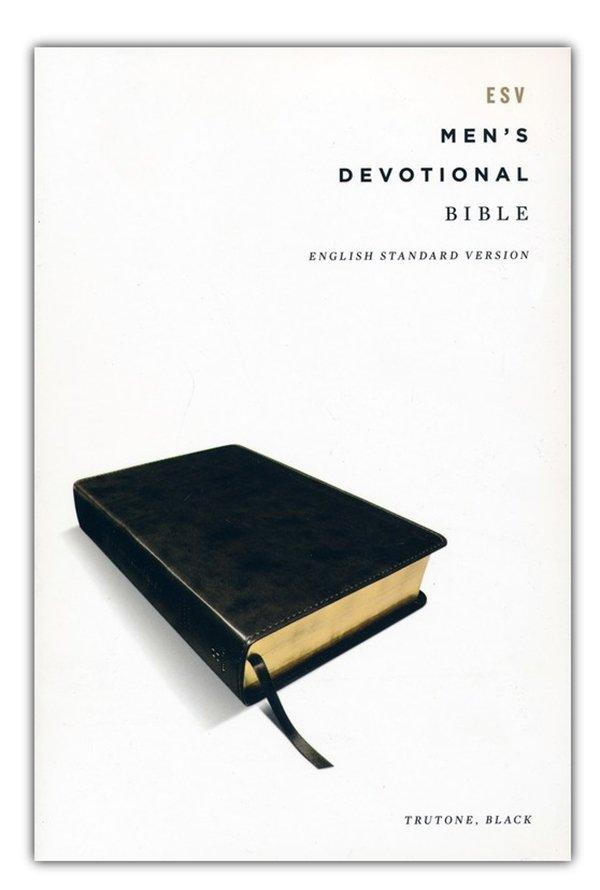ESV Men's Devotional Bible--soft leather-look, black