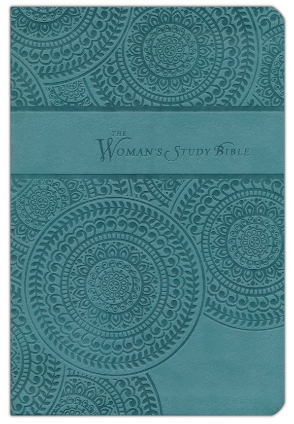 KJV The Woman's Study Bible, Leathersoft, peacock blue