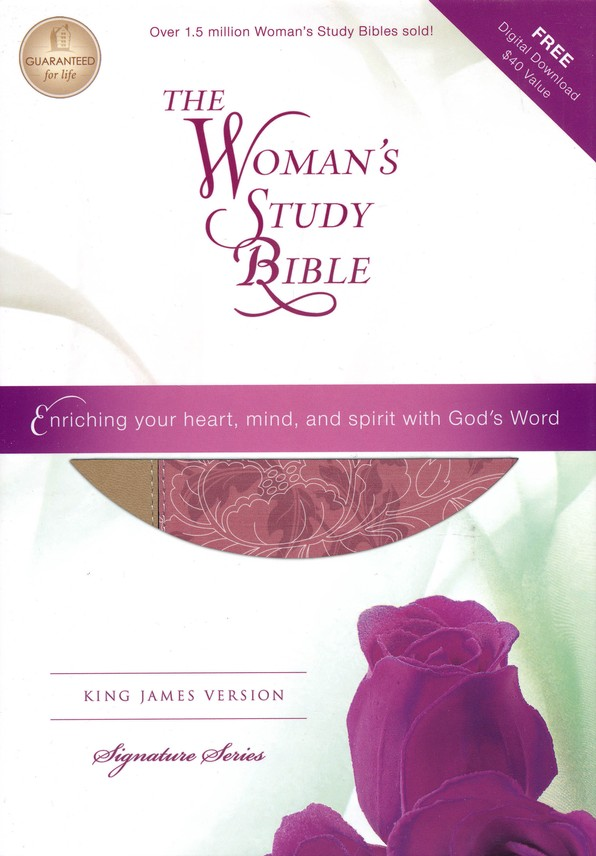 KJV Woman's Study Bible, Imitation Leather,  Pink/Cafe au lait