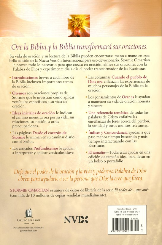 Biblia El Poder de una Mujer que Ora NVI, Enc. Dura  (NVI The Power of a Praying Woman Bible, Hardcover)