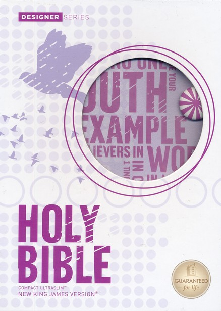 NKJV Compact Ultraslim Bible, Leathersoft, powder purple