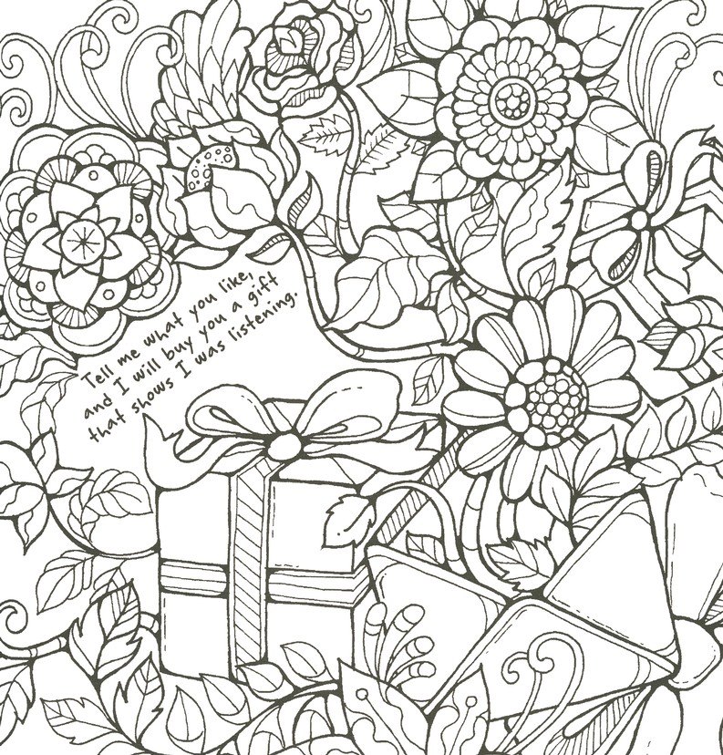 Five Love Languages Adult Coloring Book 9781424552603