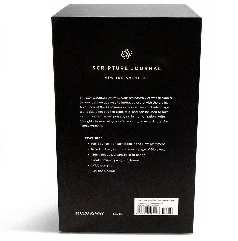 ESV Scripture Journal: New Testament Boxed Set of 19