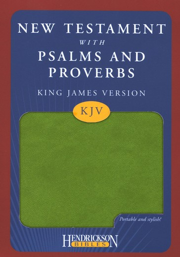 KJV New Testament with Psalms and Proverbs, green