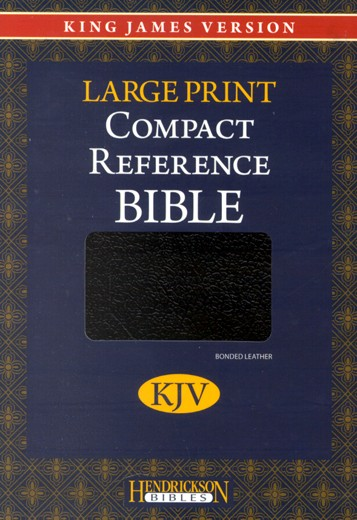 KJV Compact Large Print Reference Bible, CBD Edition,  Bonded Leather Black
