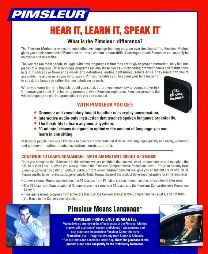 New 4 CD Pimsleur Learn to Speak Greek Language