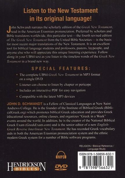 The Audio Greek New Testament (UBS4) - MP3 DVD