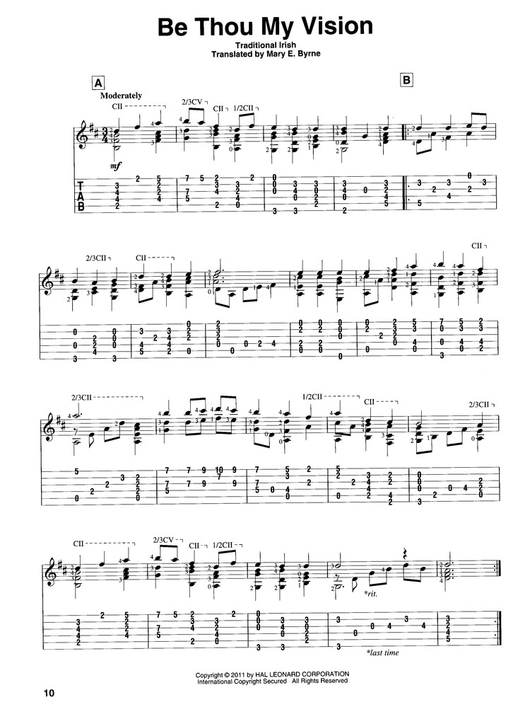 Hymns For Classical Guitar Guitar Solo 9781617803697