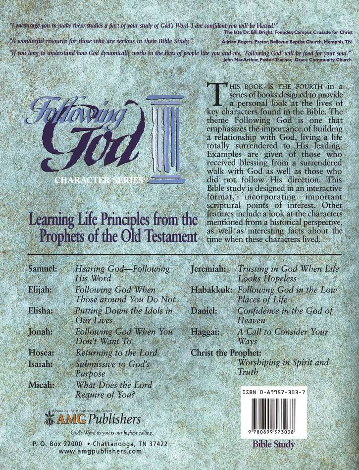 Following God Series: Life Principles from the Prophets of  the Old Testament