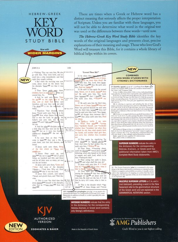 Key Word Study Bible KJV (2008 new edition), Genuine Black Leather