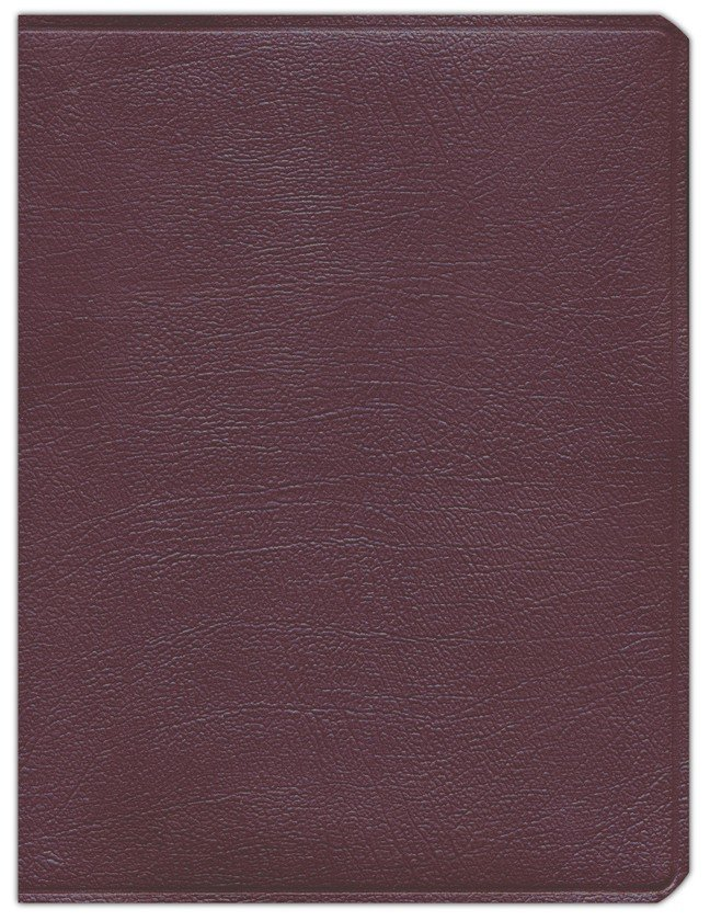 Key Word Study Bible KJV (2008 new edition), Genuine Burgundy Leather