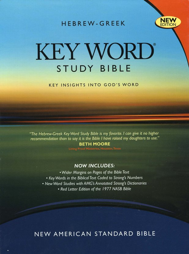 NASB Key Word Study Bible, Genuine Black Leather