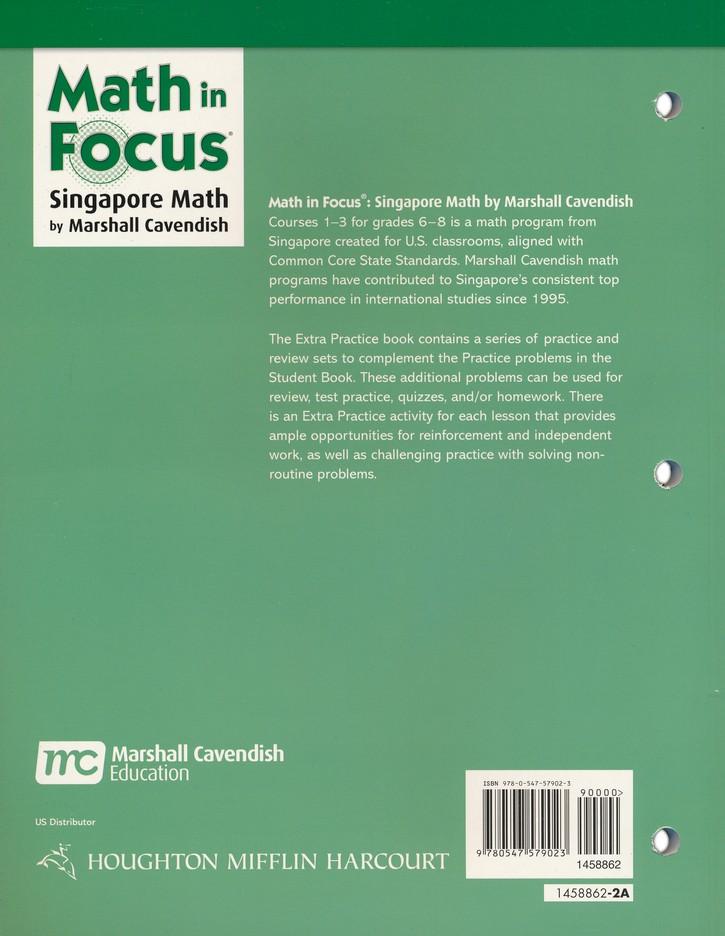 Math in Focus Grade 7 Course 2 Extra Practice A: 9780547579023 ...