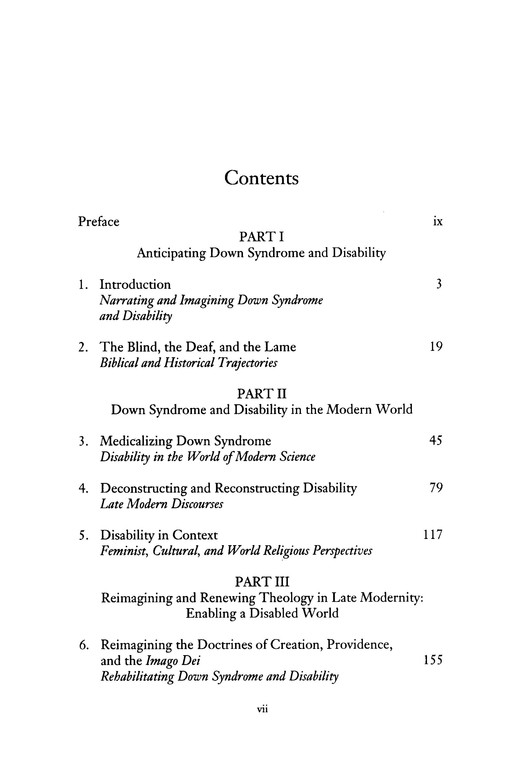Theology and Down Syndrome: Reimagining Disability in Late Modernity