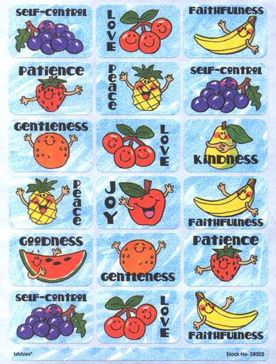 Fruit of the Spirit Praise Stickers & Chart