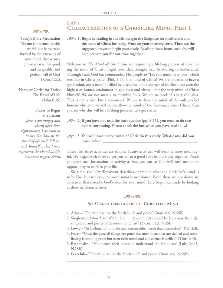 The Mind of Christ, Revised--Member Book