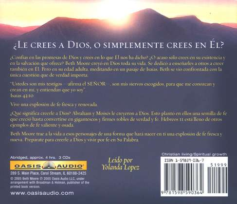 Creerle a Dios, Audiolibro  (Believing God, Audiobook), CD
