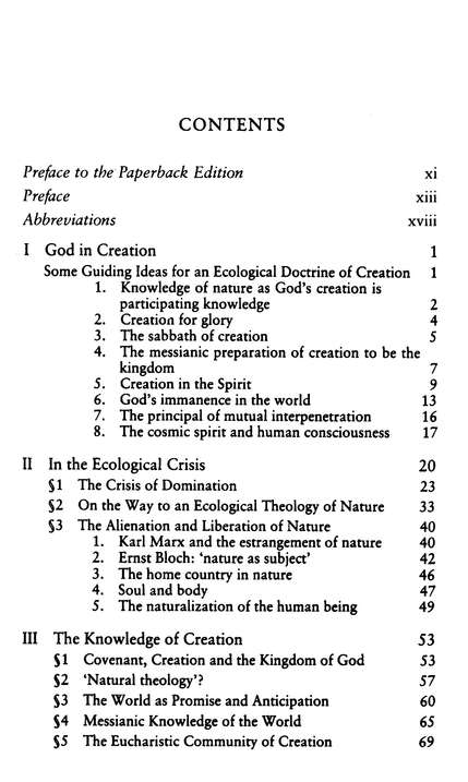 God in Creation: A New Theology of Creation and the Spirit of God