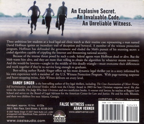 False Witness - audiobook on CD
