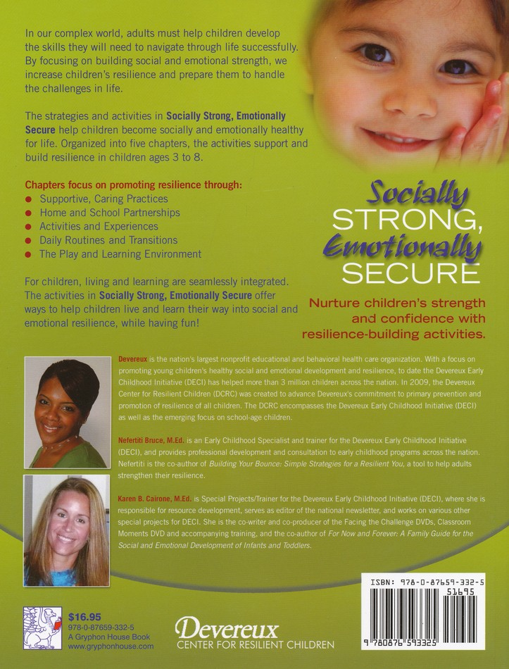 Socially Strong, Emotionally Secure 50 Activities to Promote Resilience in Young Children