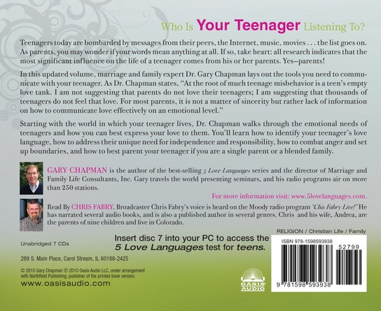 The Five Love Languages Of Teenagers Audiobook on CD Unabridged