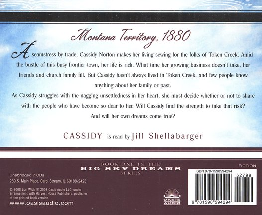 Cassidy, Big Sky Dreams #1-unabridged audiobook on CD