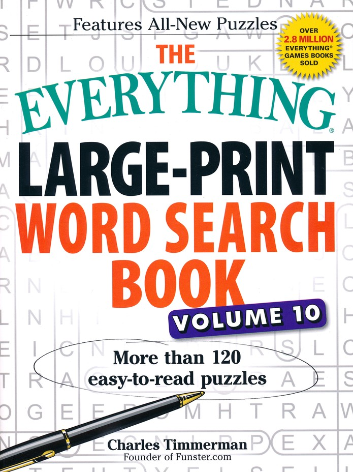 The Everything Large-Print Word Search Book, Volume 10: Charles Timmerman:  9781440594403 - Christianbook.com