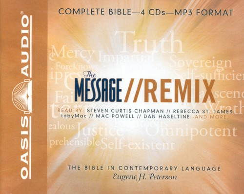 The Message Remix: The Bible in Contemporary Language - Unabridged Audiobook on MP3